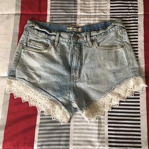 Free People Cute Denim Shorts